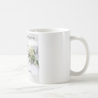 maid of honour poem - Wedding Bouquet design Basic White Mug