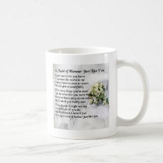 maid of honour poem - Wedding Bouquet design Basic White Mug