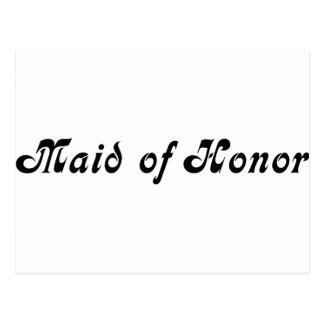 Maid of Honour Postcard