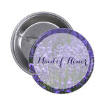 Maid Of Honour Purple Lavender Wedding Buttons