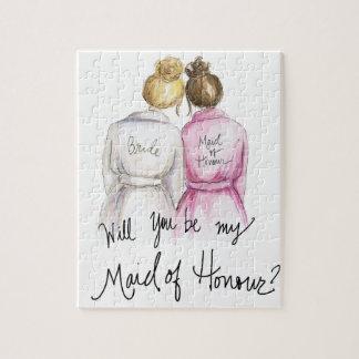 Maid of Honour? Puzzle Bl Bun Bride Br Bun Maid