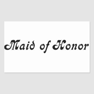 Maid of Honour Rectangular Sticker