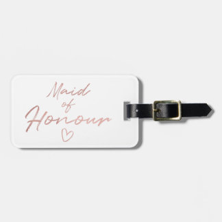Maid of Honour - Rose Gold faux foil Luggage Tag