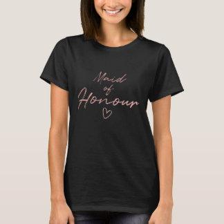 Maid of Honour - Rose Gold faux foil t-shirt