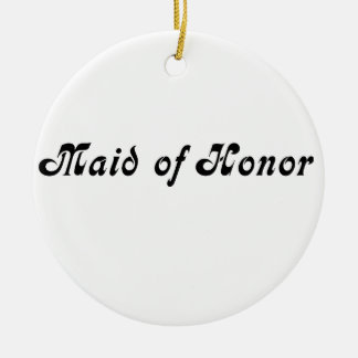 Maid of Honour Round Ceramic Decoration
