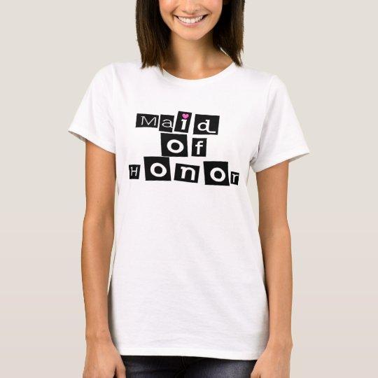 Maid of Honour (Sq Blk) T-Shirt