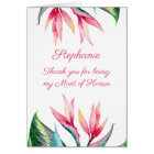Maid of Honour Thank you Bird of Paradise Card