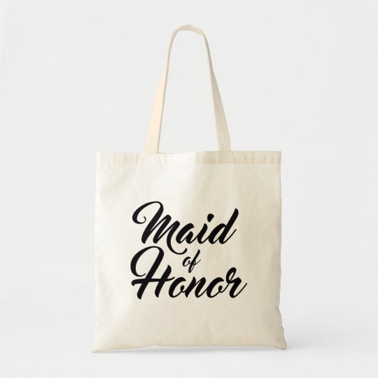 Maid of honour wedding favour tote bag
