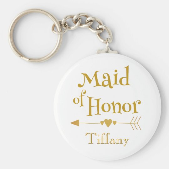 Maid of Honour Wedding Gifts Key Ring