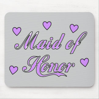 Maid of Honour Wedding Hearts Mouse Pad