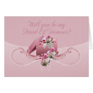 Maid Of Honour - Will You Be My Maid Of Honour Greeting Cards