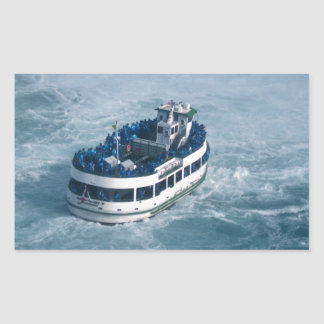 Maid of the Mist Close Up Niagara Falls, Canada Rectangular Sticker