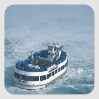 Maid of the Mist Close Up Niagara Falls, Canada Square Sticker