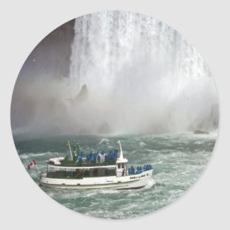 Maid Of The Mist Entering The Falls Classic Round Sticker