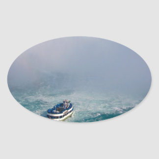 Maid of the Mist Rainbow Niagara Falls, Canada Oval Sticker