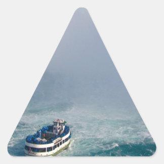 Maid of the Mist Rainbow Niagara Falls, Canada Triangle Sticker