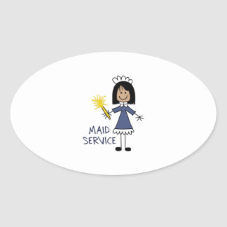 MAID SERVICE OVAL STICKER