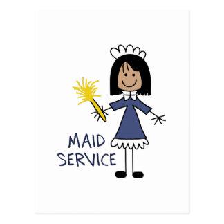 MAID SERVICE POSTCARD