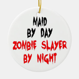 Maid Zombie Slayer Christmas Ornament