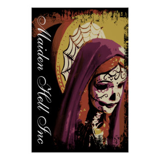 Maiden Hell Inc Day of the Dead Art Poster