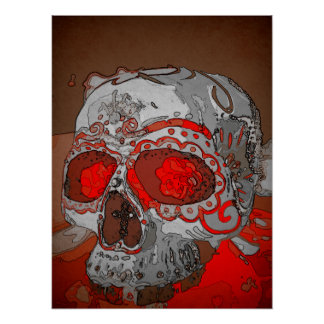 Maiden Hell Inc Sugar Skull Art Poster