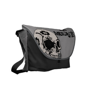 Maiden Hell Sugar Skull Los Muertos Messenger Bag