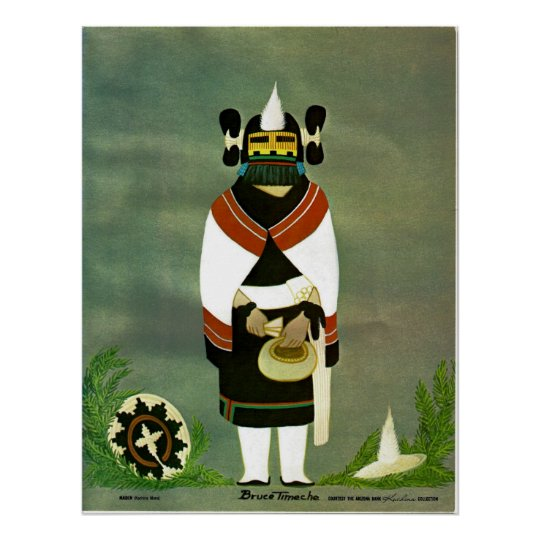 """Maiden"" kachina print"