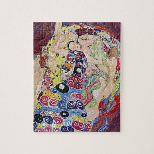 Maiden (Virgin), Gustav Klimt, Vintage Art Nouveau Jigsaw