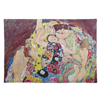 Maiden (Virgin), Gustav Klimt, Vintage Art Nouveau Placemat