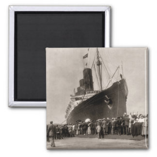 Maiden Voyage of RMS Lusitania 13 Septemeber 1907 Square Magnet