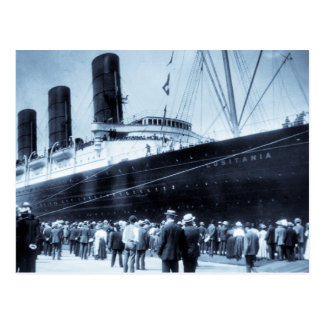 Maiden Voyage of RMS Lusitania, 13 Septemeber 1907 Post Card