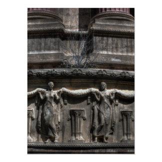 Maidens At The Pillar 14 Cm X 19 Cm Invitation Card
