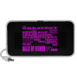 Maids of Honour Fun Gifts : Greatest Maid of Honou Mp3 Speakers