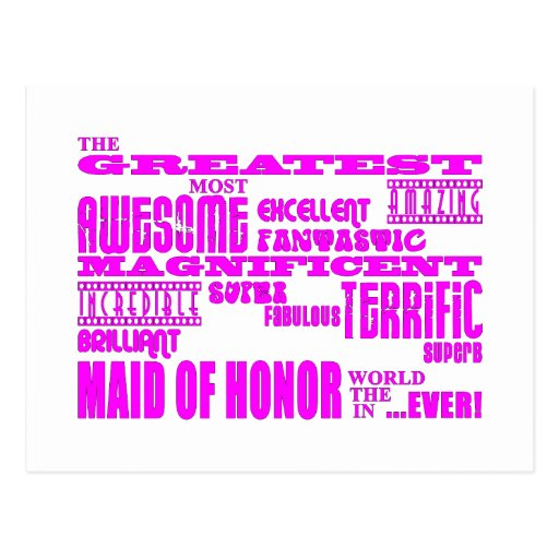 Maids of Honour Fun Gifts : Greatest Maid of Postcard
