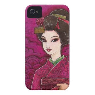 Maiko in Pink & Green Kimono Geisha iPhone 4 Case