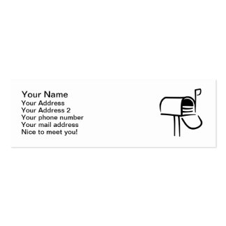 Mail box business card template