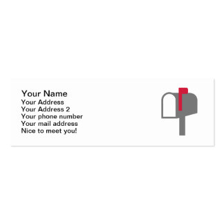 Mail box letter business card templates