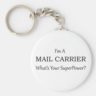 MAIL CARRIER BASIC ROUND BUTTON KEY RING
