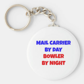 Mail Carrier by Day Bowler by Night Key Ring