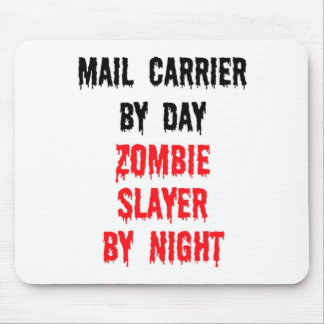 Mail Carrier By Day Zombie Slayer By Night Mouse Mat