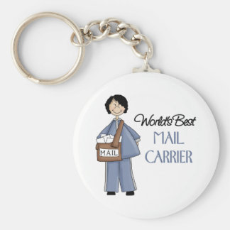 Mail Carrier Gift Basic Round Button Key Ring