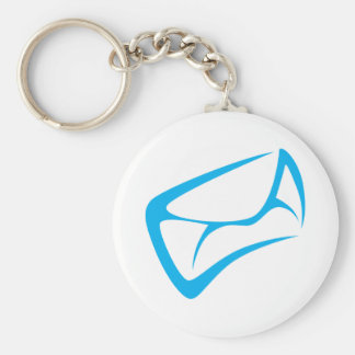 Mail Carrier Logo in Swish Drawing Style Basic Round Button Key Ring
