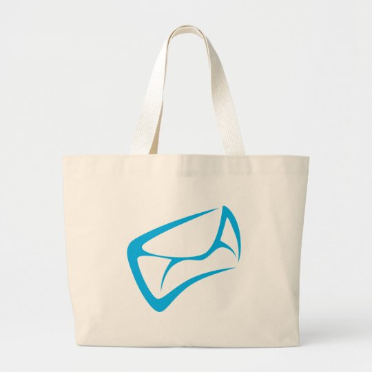 Mail Carrier Logo in Swish Drawing Style Large Tote Bag