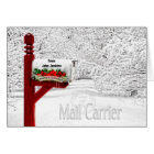 Mail Carrier or Postal - Christmas Mailbox Card