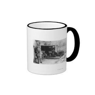 """Mail Carrier with """"United Mail"""" Automobile Mug"""