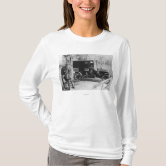 "Mail Carrier with ""United Mail"" Automobile T-Shirt"