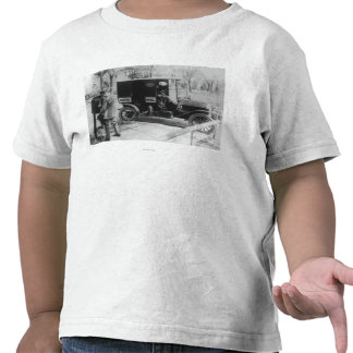 """Mail Carrier with """"United Mail"""" Automobile Tee Shirt"""