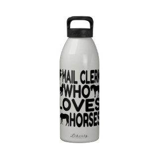Mail Clerk Who Loves Horses Drinking Bottles