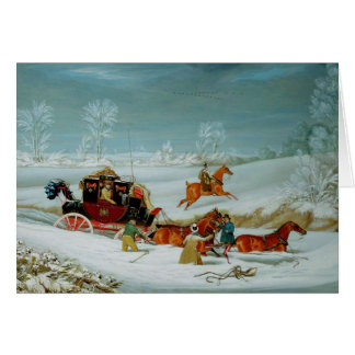 Mail Coach in the Snow Card