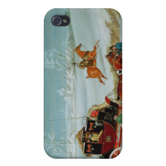 Mail Coach in the Snow iPhone 4/4S Case